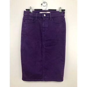 JOES JEANS Purple Denim Skinny Pencil Skirt